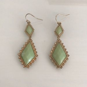 Mint Francesca's Dangly Earrings